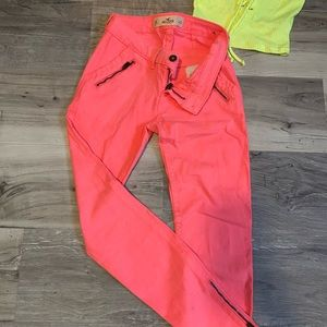 Hollister Neon Pants